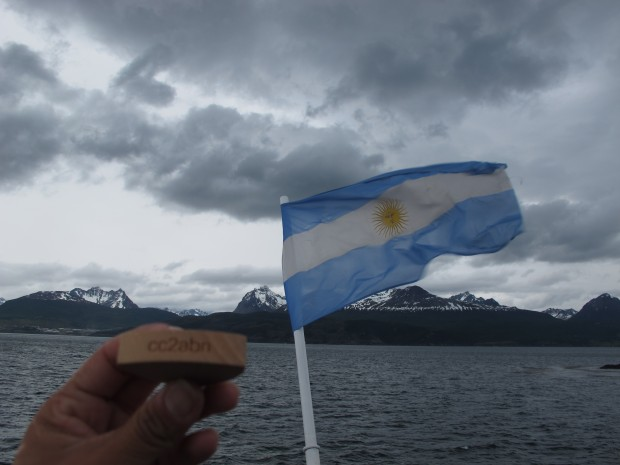 My flag @ the end of the World